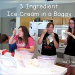 easy three ingredient ice cream in a baggy