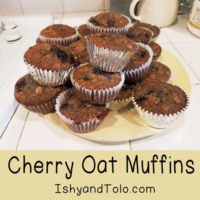 Cherry Oat Muffins